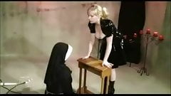 Chubby Lesbian Nun Dominated And Spanked