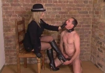 Femdom give himself a facial sex hot video