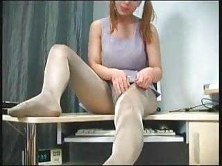 Teen stocking tease
