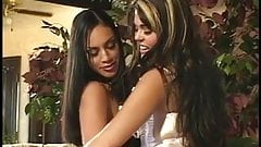 2 latina lesbos in action