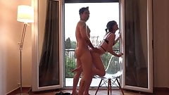 TOURISTS IN GREECE - FUCK HARD IN AIRBNB APARTMENT
