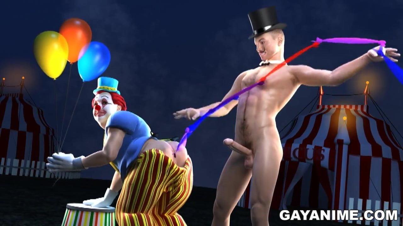 Clown gay porn