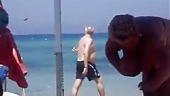 granny bbw beach
