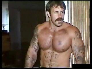 vintage muscle dad jacks off