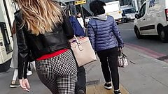 Candid Hot Ass in Chequered Trousers