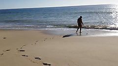 Beach Walk in tiny bikini