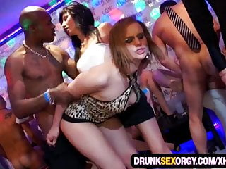 Dirty party babes loving big dicks
