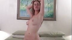 Busty amateur Holly loves masturbating her pussy