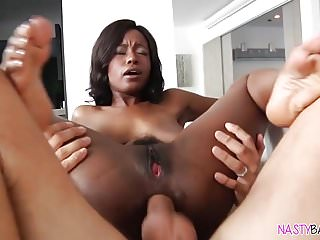 Busty ebony's ass destroyed!