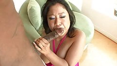 Asian beauty gets hard fuck by a white hunk