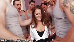 HARDX Megan Rain BLOWBANGS 10 COCKS