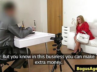 Plumper euro titfucked at casting