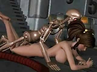 Girl Fucked By Robotic Skeleton