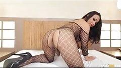 Beautiful Monik Lorran jerks her cock and stuffs ass