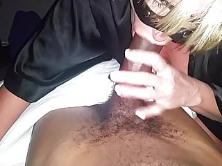 Hot Busty Blonde MILF Cougar luvs 2 deep throat my young bbc