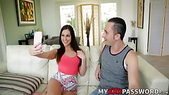 Hot teen brunette Brittany Shae blows brothers best friends