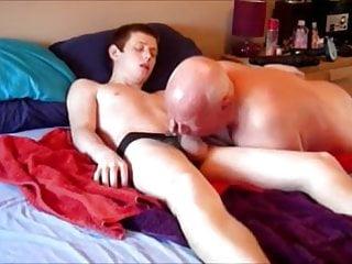 Grandpa fuck boy and cum