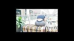 big ass milf see through leggins thong
