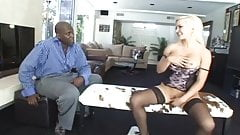 Blonde banged by a very big dick