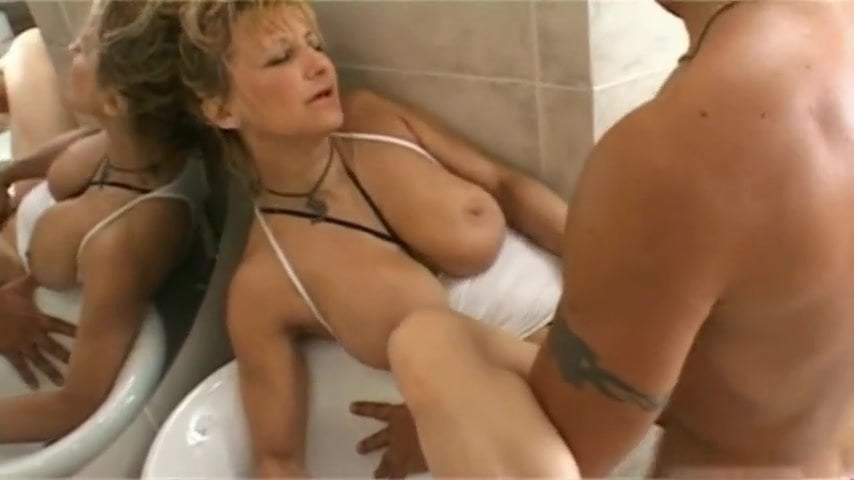 image Lower income cougar fucked in bathroom