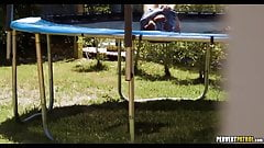 Perving on Trampoline Teen