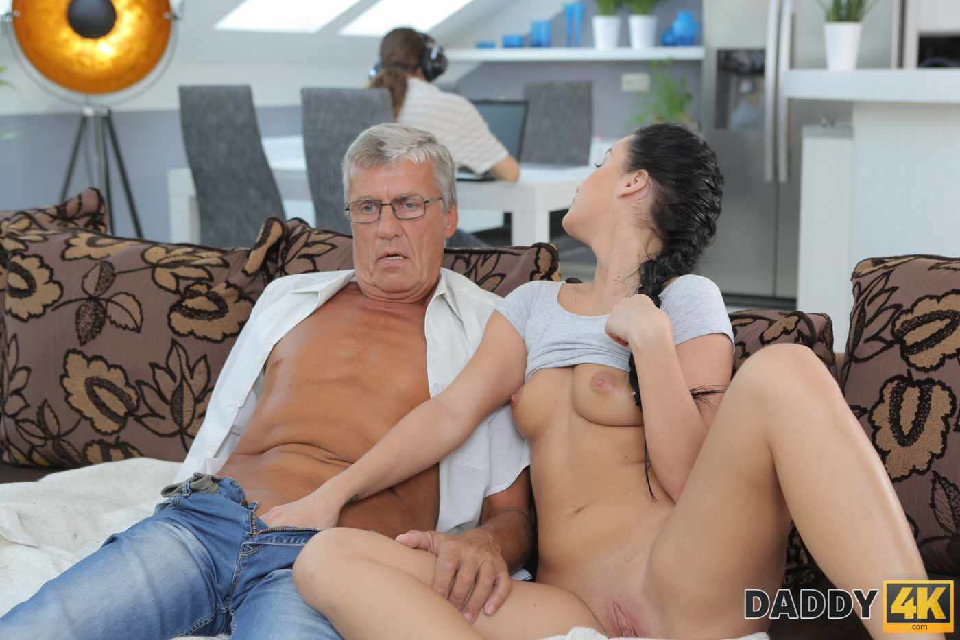 image Daddy4k old dad isn039t against hot quickie with son039s