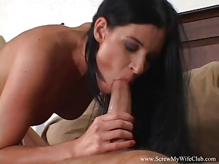 Jewish Wife Swings With Big New Cock