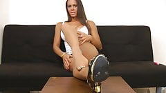 Angelina nice pantyhose tease