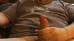Cumming on webcam