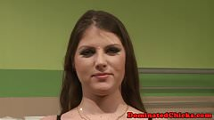 Babe dominated over and facialized by her dr