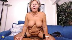 Modern granny suck and fuck lucky boy
