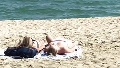 Barcelona beach young german teen topless