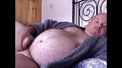 Daddybear Jerking in Bed