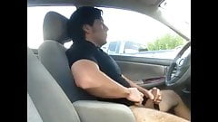 Fun Guy Stroking In Parking lot