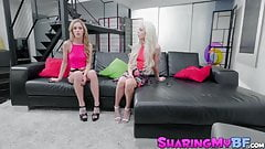 Delicious young stepsisters Elsa Jean and Kali Roses in trio
