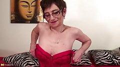 Skinny grandma needs a big hard cock