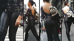 Candid Leather (MILF in Leather Pants)