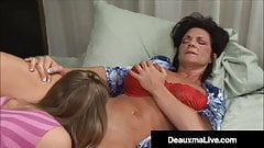 Mature Muff Diver Deauxma Pleases Younger Girl's Tight Pussy
