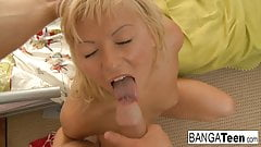 Young blonde babe just loves to get fucked