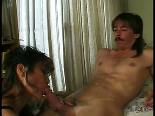Great sex flix - Hot asian milf gets on her knees and gives young dude a great sex
