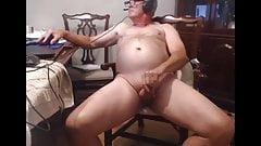 Grandpa eat his own cum