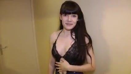 Beautiful brunette Sidney double penetrated