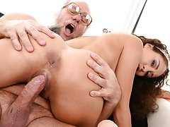 Young latina on much older dick's Thumb