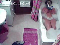 Hidden camera my wife takes a bath