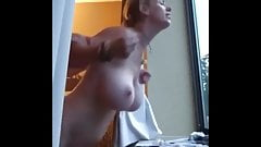 Very Busty Amateur MILF with Young Boy on Vacation