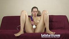 Lelu Love-Naked Barefoot Hitachi Masturbation