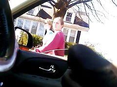 Dick flashing white girl
