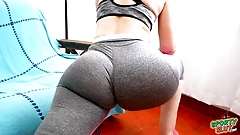 Amazingly Huge Bubble Butt Latina Working Out