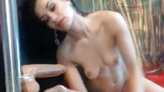 brunette with dildo blowjob and deepthroat sex videos