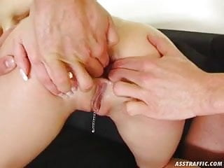 Ass Traffic Julie lets two guys in her backdoor for DP fun